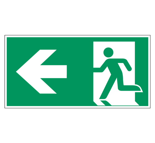 ARBO centrum Nooduitgang naar links pictogram