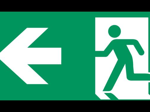ARBO centrum Nooduitgang naar links