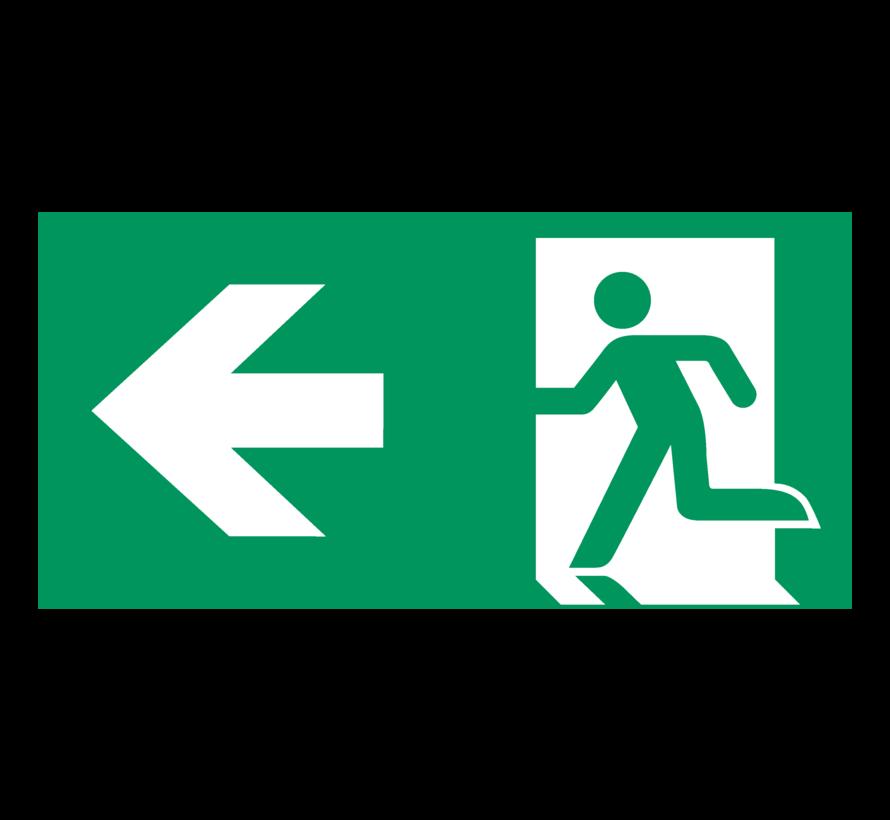 Nooduitgang naar links pictogram