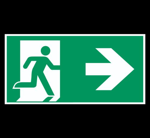 ARBO centrum Nooduitgang naar rechts pictogram