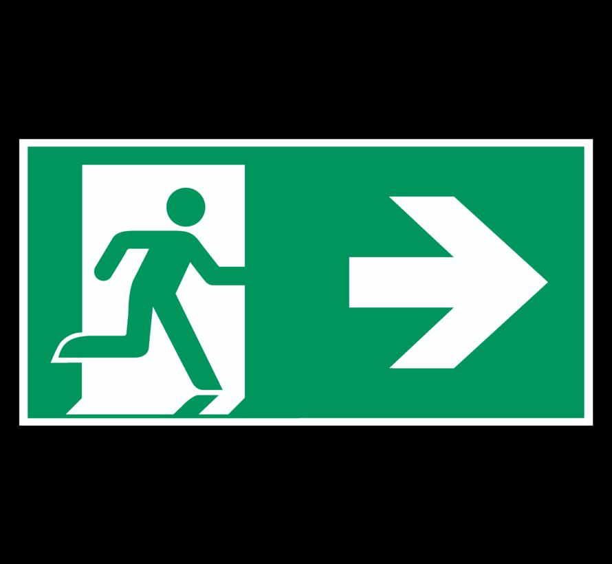 Nooduitgang naar rechts pictogram
