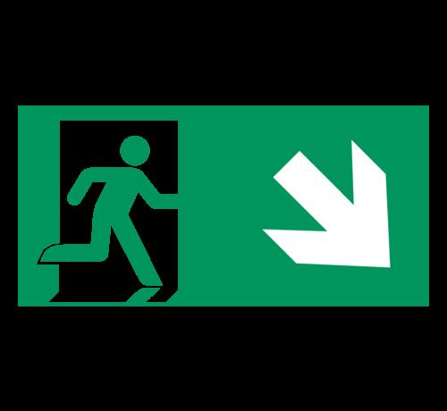 ARBO centrum Nooduitgang naar rechts onder pictogram
