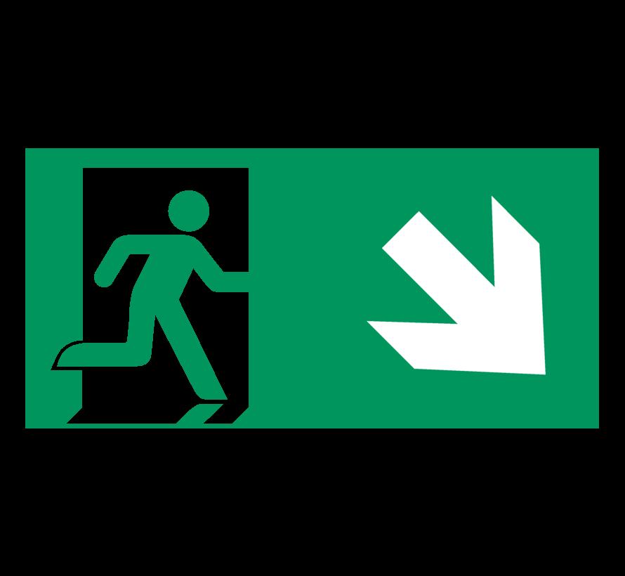 Nooduitgang naar rechts onder pictogram