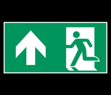 Nooduitgang rechtdoor