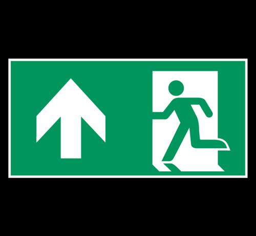 ARBO centrum Nooduitgang rechtdoor pictogram