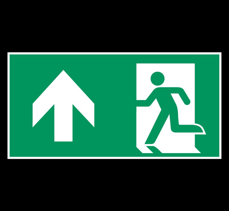 Nooduitgang rechtdoor pictogram