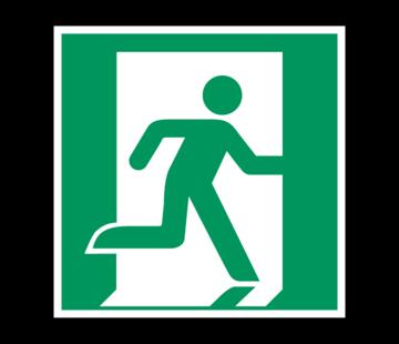 Nooduitgang richting rechts