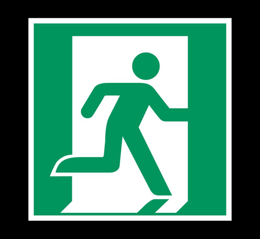 Nooduitgang richting rechts pictogram