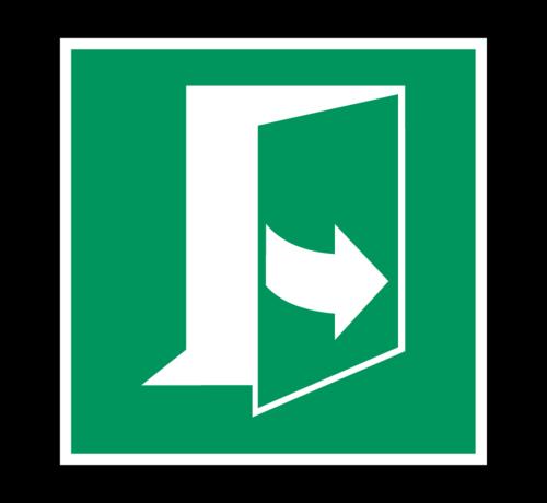 ARBO centrum Trek aan de linkerkant om de deur te openen pictogram