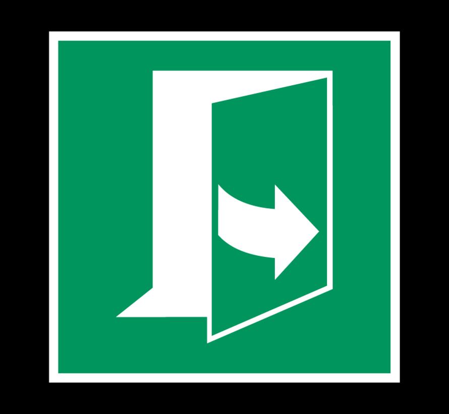 Trek aan de linkerkant om de deur te openen pictogram