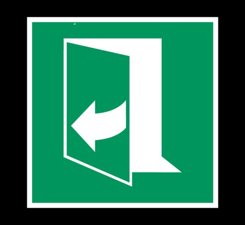 ARBO centrum Trek aan de rechterkant om de deur te openen pictogram