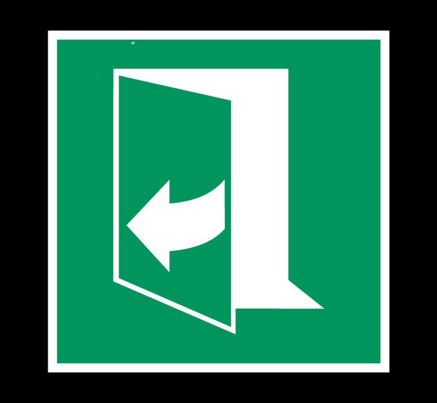 Trek aan de rechterkant om de deur te openen pictogram