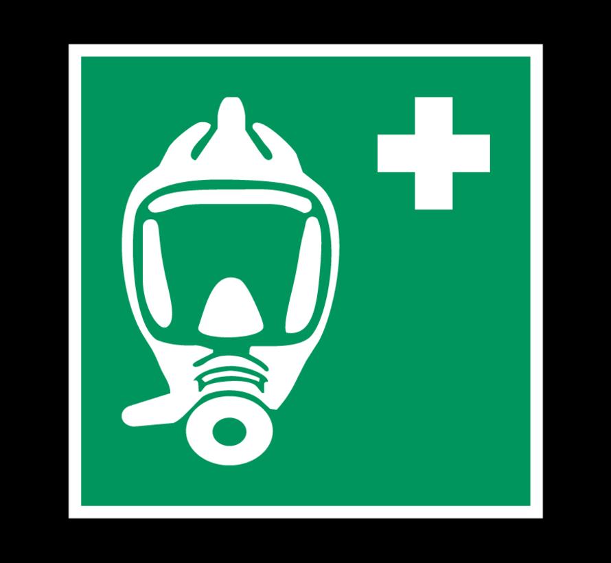 Ademhalingsapparaat voor noodevacuatie pictogram