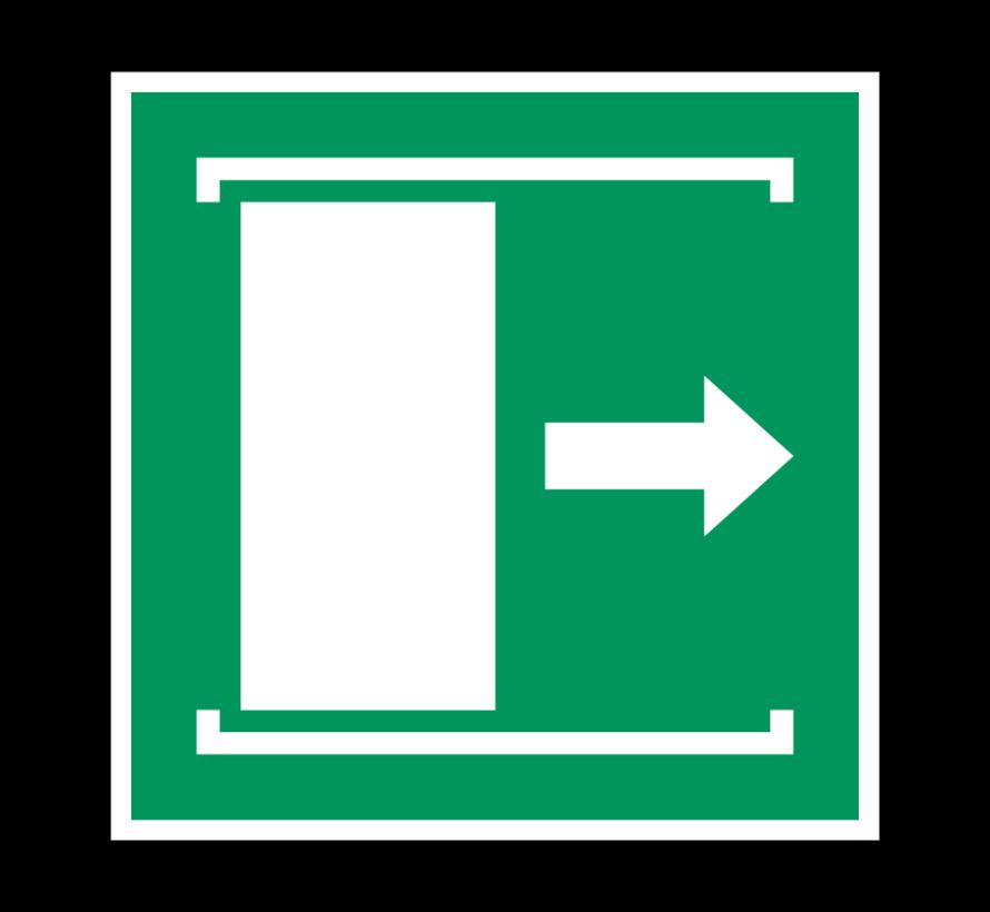 Deur naar rechts schuiven om te openen pictogram