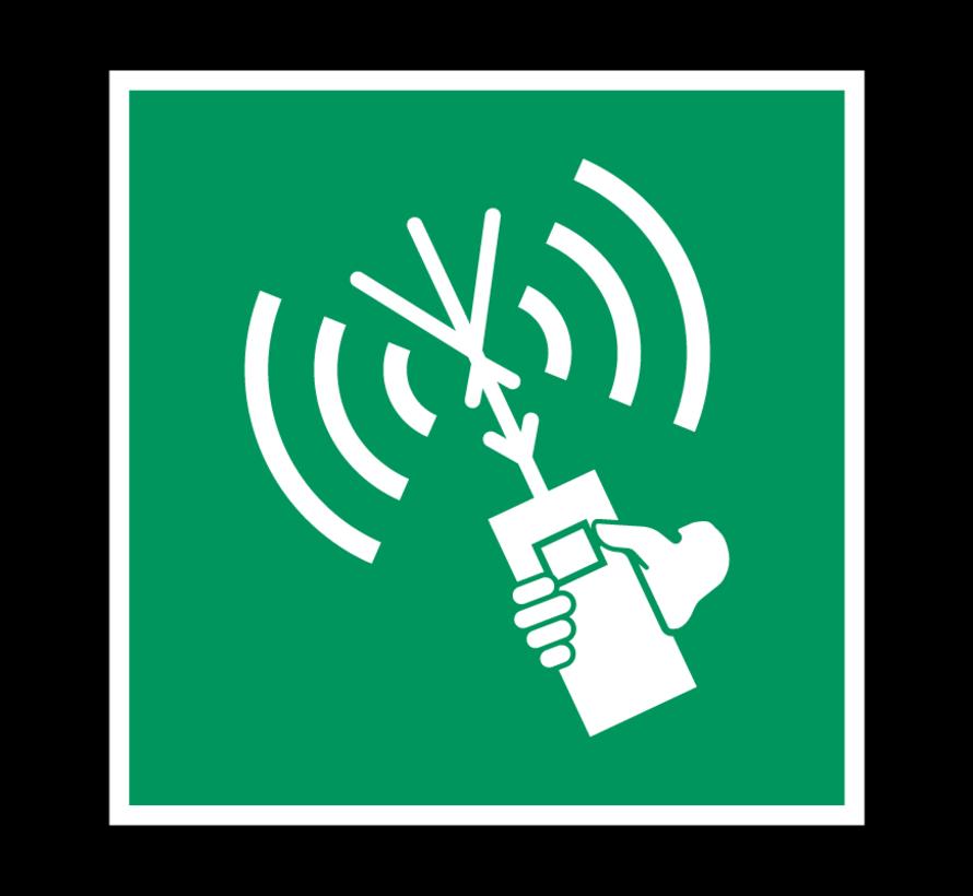 Draagbare meldingsradio pictogram