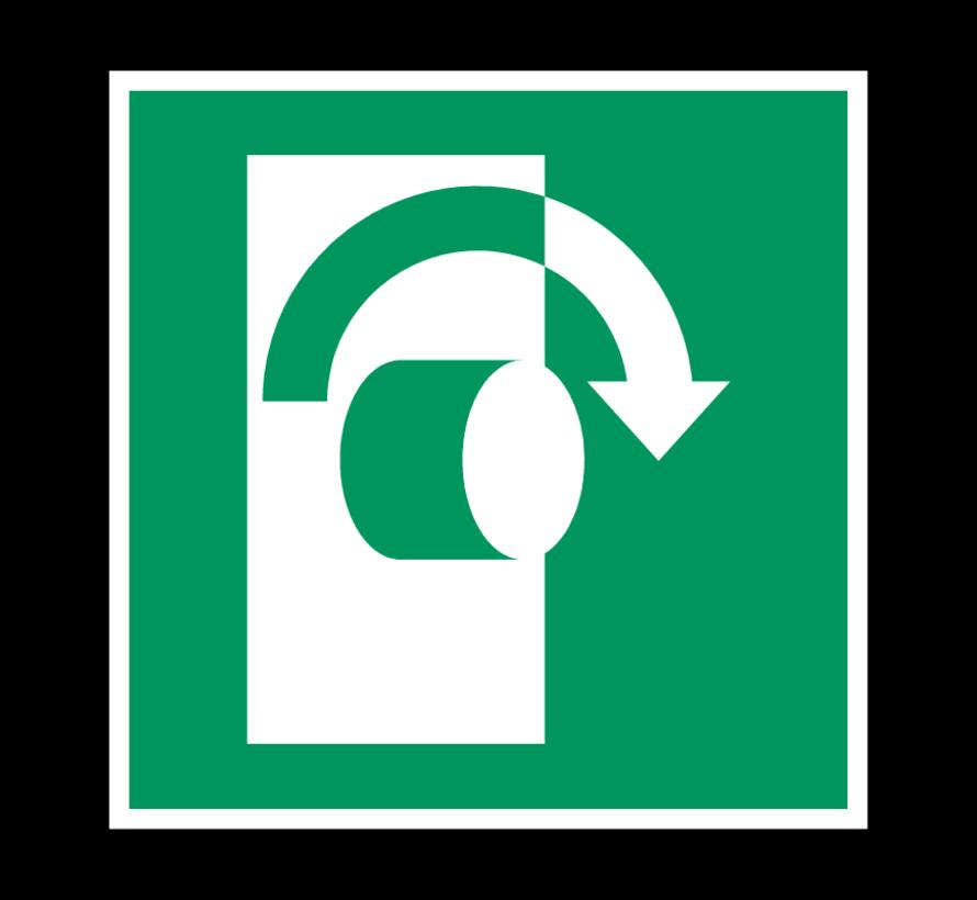 Draai in wijzerzin om te openen pictogram