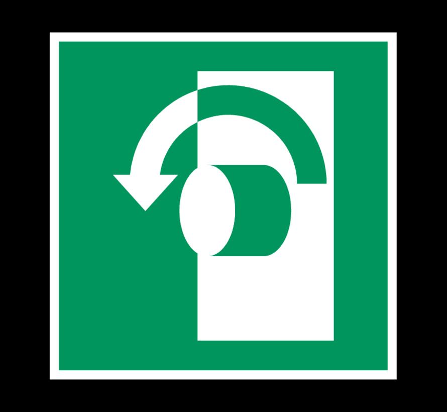 Draai tegen wijzerzin om te openen pictogram