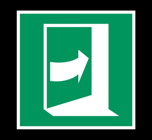 ARBO centrum Duw rechts om deur te openen pictogram