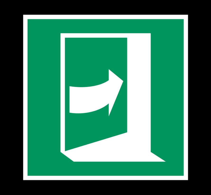 Duw rechts om deur te openen pictogram