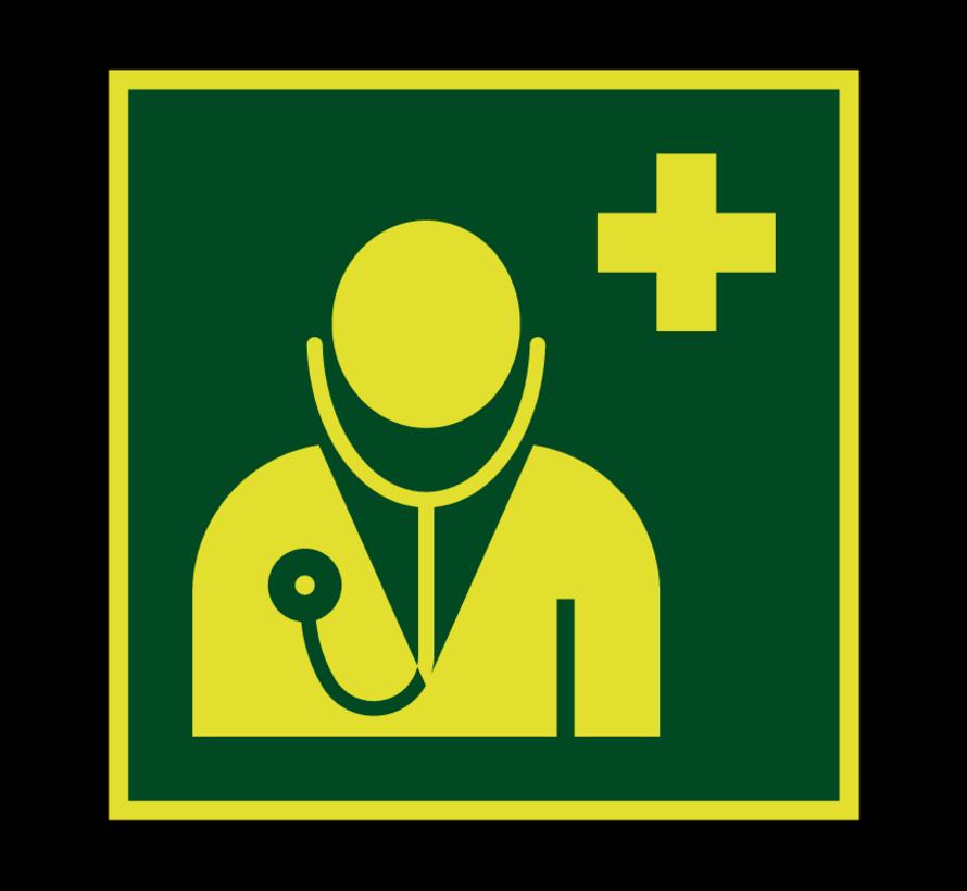 Arts lichtgevend pictogram