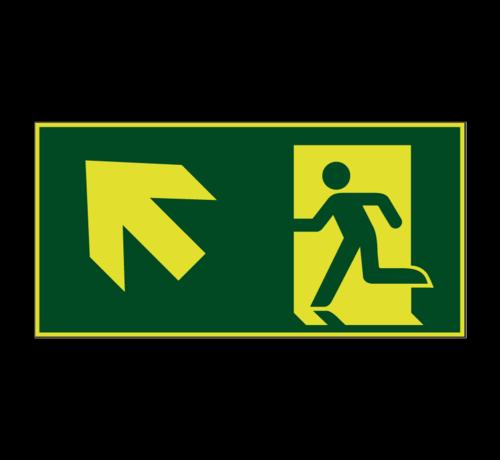 ARBO centrum Nooduitgang naar links boven lichtgevend pictogram