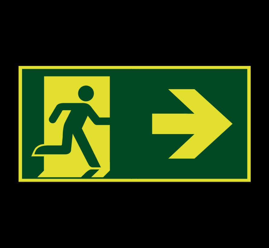 Nooduitgang naar rechts lichtgevend pictogram