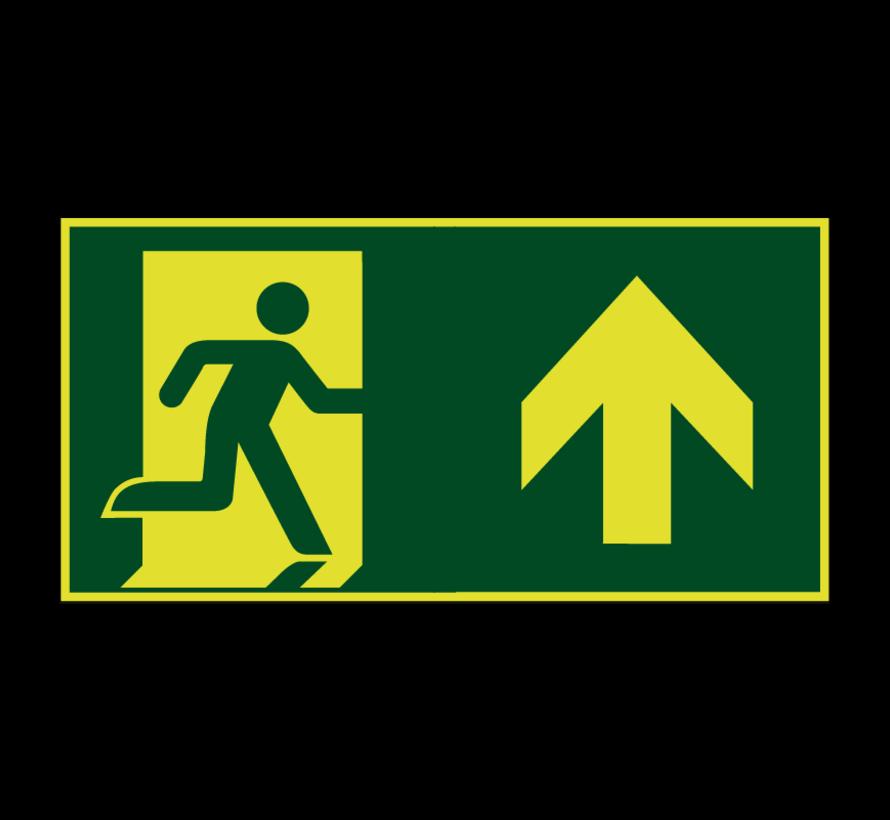 Nooduitgang rechtdoor lichtgevend pictogram