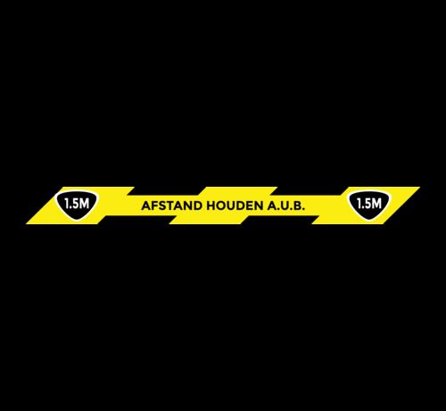 ARBO centrum Vloermarkering sticker 1,5 meter afstand houden A.U.B - 75 x 900 mm
