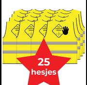 Houd 1,5 meter afstand hesje geel - 25 hesjes