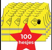 Houd 1,5 meter afstand hesje geel - 100 hesjes