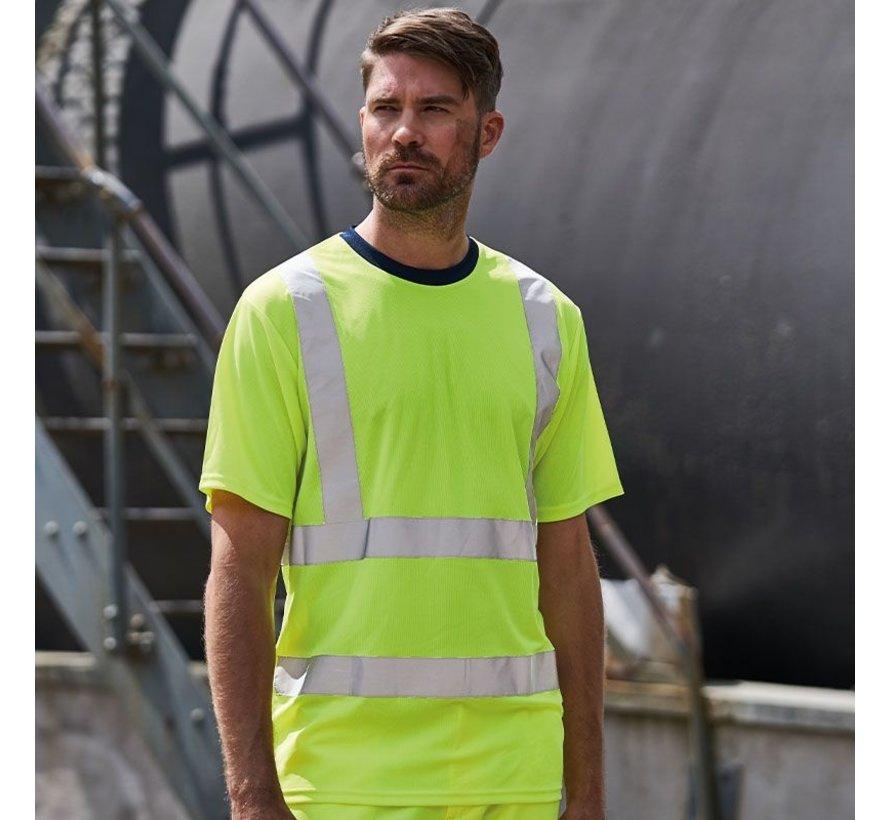 Veiligheids t-shirt geel
