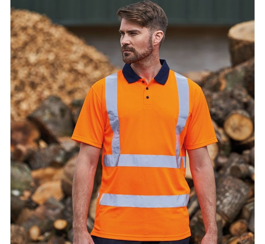 RWS reflecterend polo oranje (Veiligheidspolo)