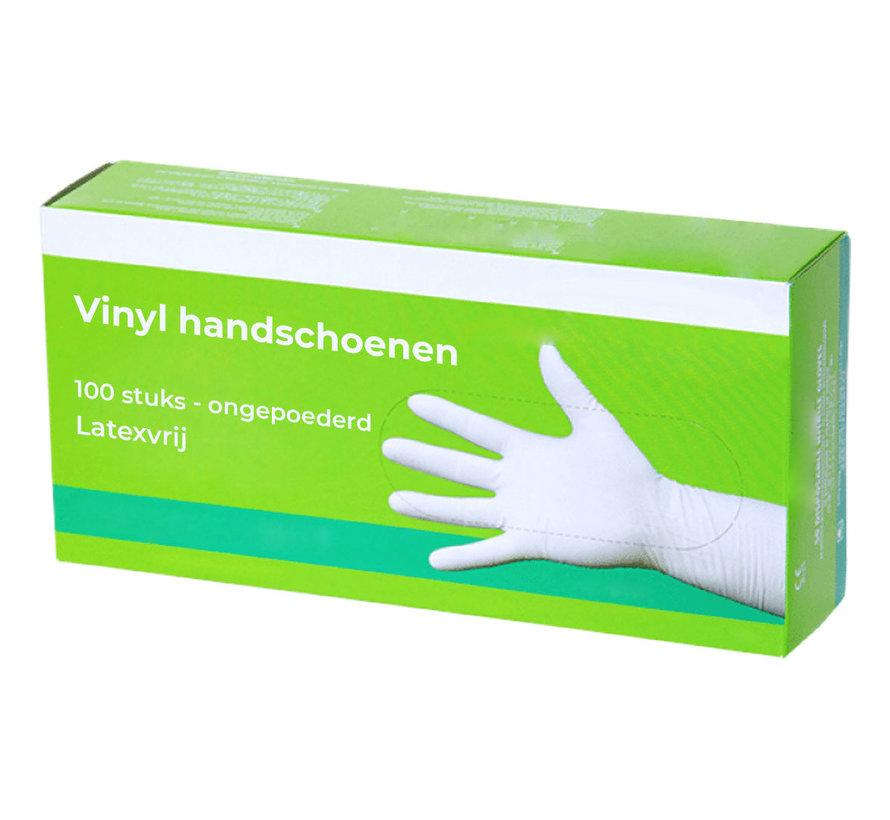 Complete doos handschoenen vinyl - 1000 stuks