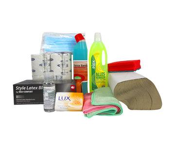 ARBO centrum Hygiëne pakket - Wegwerphandschoenen, handgel etc.