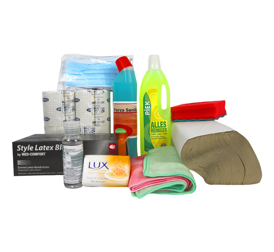 Hygiëne pakket - Wegwerphandschoenen, handgel etc.