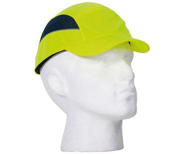 Veiligheidspet Hi-Viz - korte klep, geel