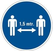 Houd 1,5 meter afstand