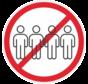 Grote groepen verboden