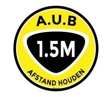 ARBO centrum Vloermarkering sticker 1,5 meter afstand houden