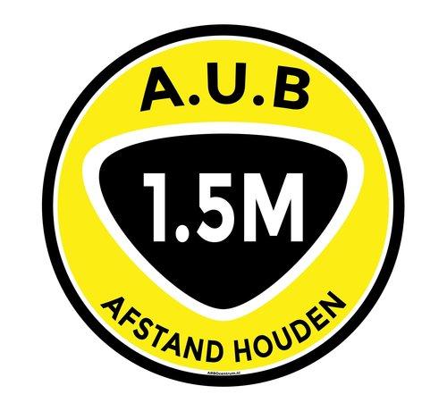 ARBO centrum Vloermarkering sticker 1,5 meter afstand houden - Ø 30 mm