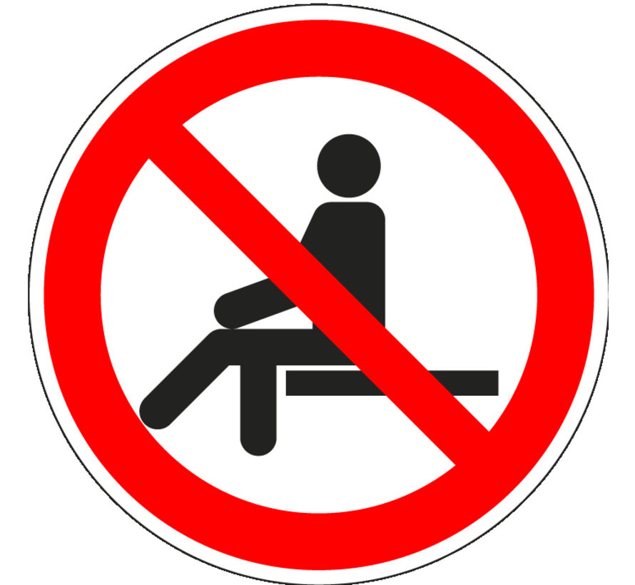 Verboden te zitten