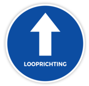 ARBO centrum Vloersticker looprichting tekst