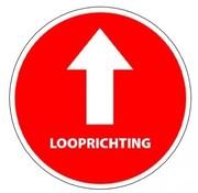 ARBO centrum Vloersticker looprichting tekst rood