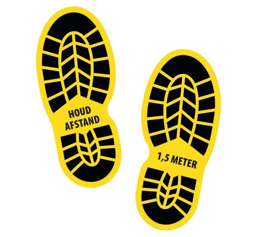 Houd 1,5 meter afstand schoenen