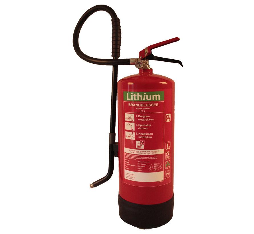 Lithium brandblusser 6 liter schuim 27A / LI