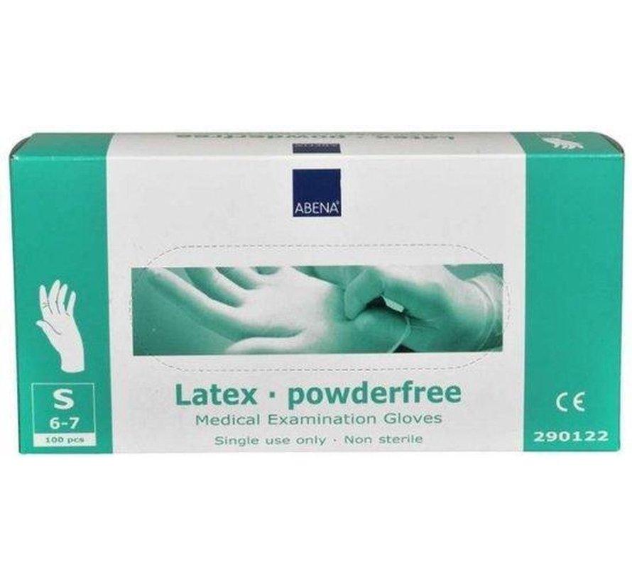 Latex poedervrij handschoenen - 100 stuks