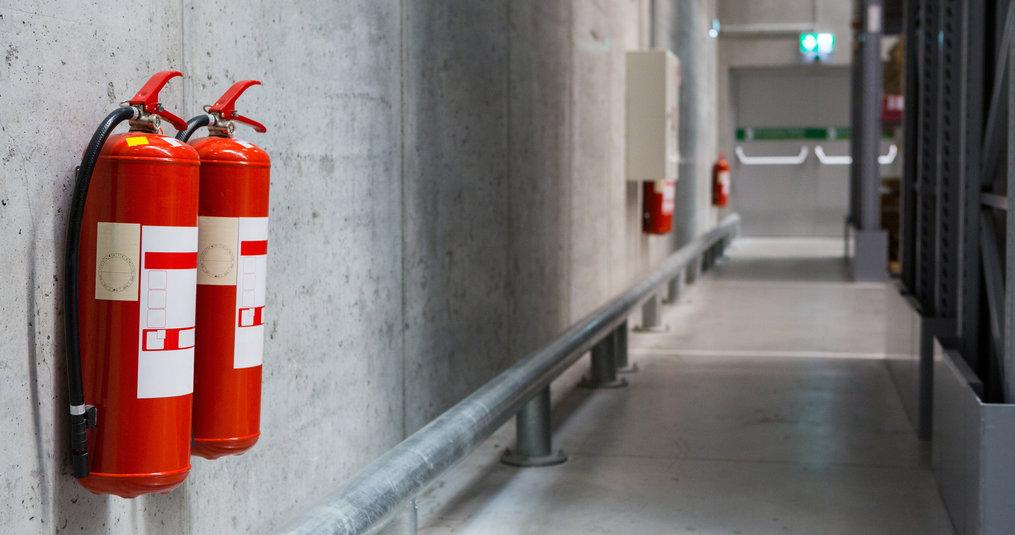 Hoeveel brandblussers in een gebouw?