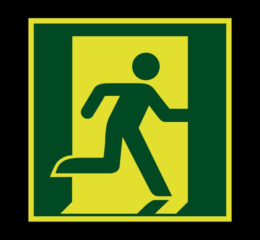 Nooduitgang richting rechts lichtgevend pictogram
