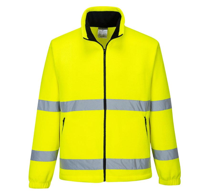 Veiligheidsjas fleece geel