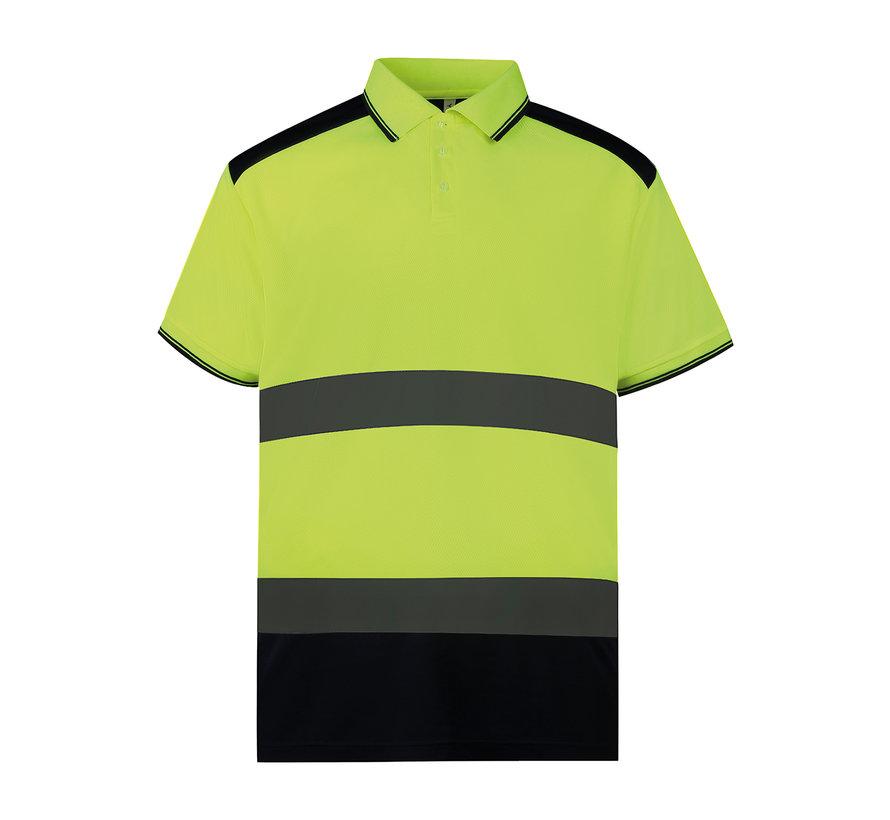 Veiligheids polo geel / navy
